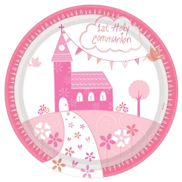 Communion Church Pink - Dinner Plates 23cm (8)